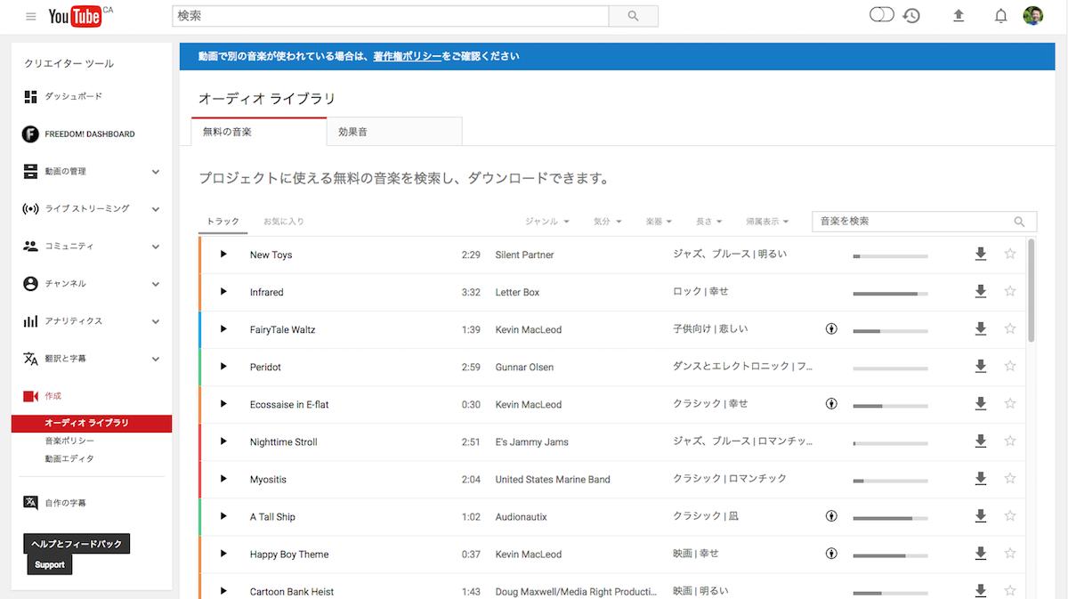 RightsFreeMusic01 著作権フリーの音楽配布サイト32選!YouTubeで使える音楽を求めて・・・
