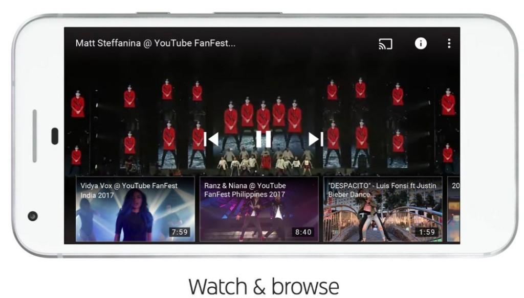 再生中に動画検索 1024x584 新しくなったYouTubeロゴ、デザイン、アプリ機能を紹介!