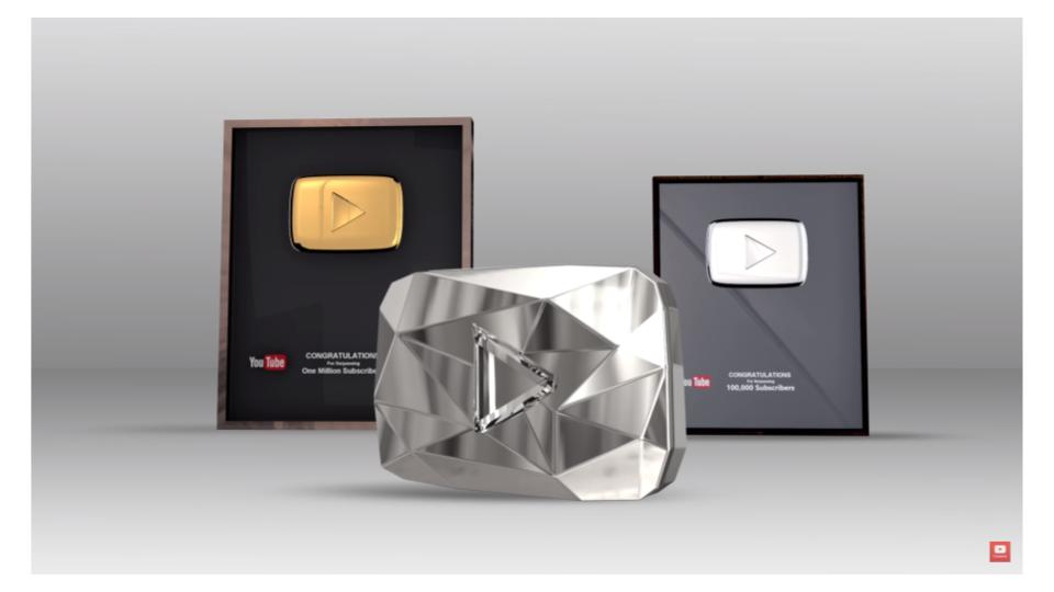 Play buttons YouTube公認、人気ユーチューバーの証とは?