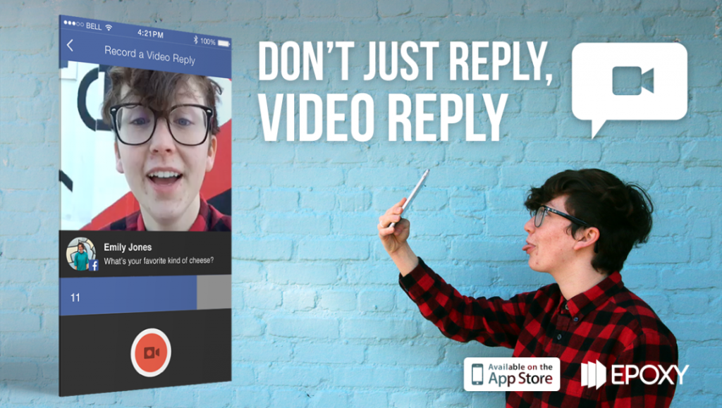 Epoxy Video Reply 1024x579 Epoxy Introduces Video Replies   Film Yourself as a Response to Fan Comments!