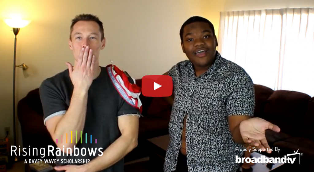 RisingRainbows Facebook Video3 2 1 1024x563 Davey Wavey Presents Rising Rainbows, Featuring Machaizelli   The Eggplant Emoji