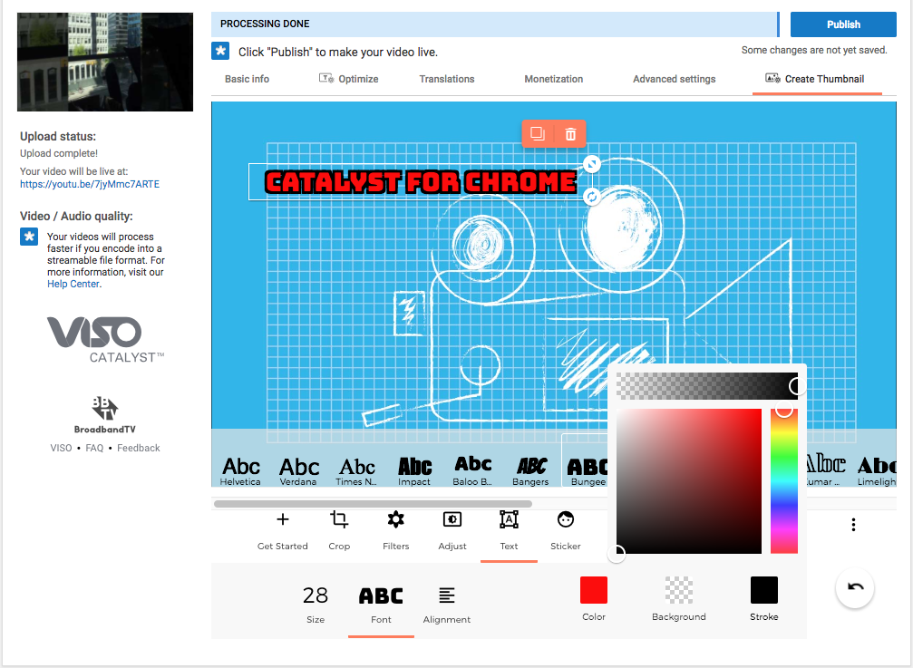 Screen Shot 2016 11 10 at 12.27.32 PM VISO Catalyst for Chrome: Discover Improved YouTube Thumbnail Customization Tools!