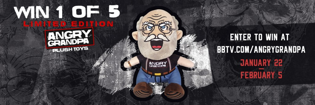 AngryGrandpa Contest TW V2 1024x341 Win 1 of 5 Limited Edition Angry Grandpa Plush Toys