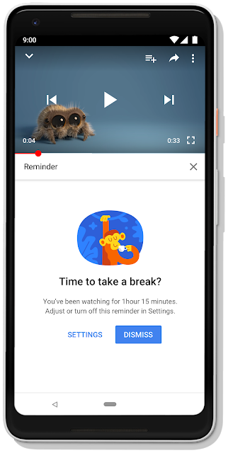 02 break reminder device frame Bem estar Digital no YouTube